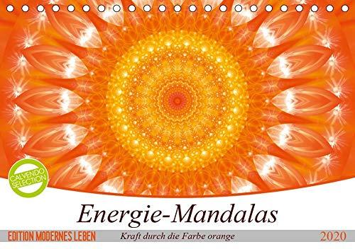 Energie - Mandalas in orange (Tischkalender 2020 DIN A5 quer): Editionskalender Energie-Mandalas in orange von Christine Bässler (Monatskalender, 14 Seiten )