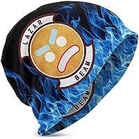 Wyatt Koerner Kids Boys' Girls' Knit Lazarbeam Logo Beanie Hat Warm Winter Knit Hats Unisex Skull Cap