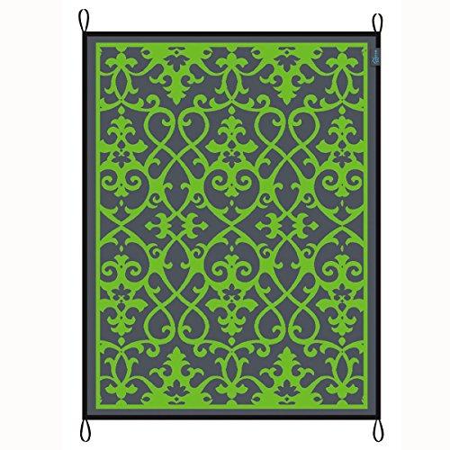 Picknicdecke Campingteppich 180x200cm, Schimmelfrei. Chill Decke, Zeltteppich wetterbeständig. Spielteppich. Strandmatte mit UV Schutz Outdoorteppich Schutz vor Schmutz, Inklusive Tragetasche, Grün