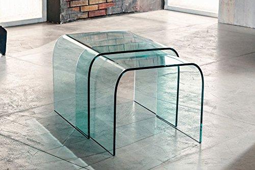 IMAGO FACTORY Phoenix Tavolino da Salotto Base in Vetro ...