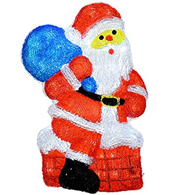 WeRChristmas 60 cm PreLit Acrylic Christmas Decoration 48 Bright White LED Lights