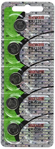 Maxell CR1220 3V Lithium Coin Cell Watch Batteries (5-Pack) by Maxell (English Manual) Maxell Lithium 3v Batterien