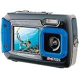 Aquapix W1400 Active Iceblue Unterwasser-Digitalkamera (14 Megapixel, 6,8 cm (2,7 Zoll) Dual-Display, 4-fach Zoom, wasserdicht bis 3m)