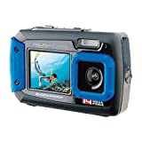 Aquapix W1400 Active Iceblue Unterwasser-Digitalkamera Dual-Display