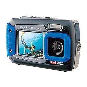 Aquapix-W1400-Active-Iceblue-Unterwasser-Digitalkamera-14-Megapixel-68-cm-27-Zoll-Dual-Display-4-fach-Zoom-wasserdicht-bis-3m