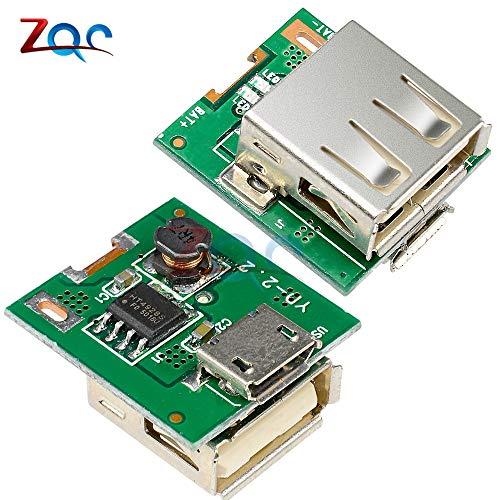 Boost-batterie (5pcs DC 5V Step Up Power Modul Lithium-Batterie-Lade Schutz-Board Boost Converter LED Display USB für DIY-Ladegerät 134N3P)