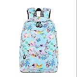Druck Rucksack zurück zu Schultaschen für Teenager Mädchen Kinder Rucksäcke für Jugendliche weibliche Rucksack Mädchen Schulranzen Blue 29x13x42cm