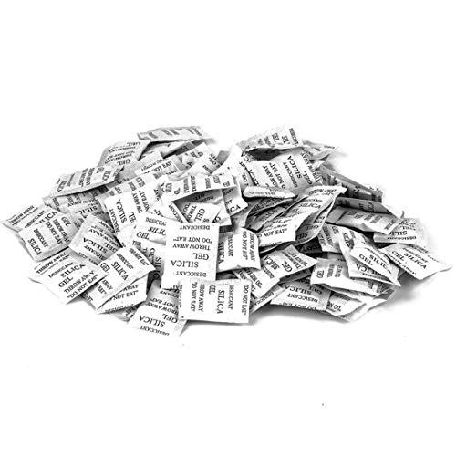 ECYC Packung Mit 40 Silica-Ge-Feuchtigkeits-Trockenmittel-Paketen, Ungiftiger Feuchtigkeitsabsorberbeutel FüR Kleidung, Lebensmittel, Raum, KüChe (5g/Pack) - Ge Kleidung