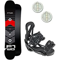 FTWO RENTAL KINDER SNOWBOARD SET ~ 140 CM + ELFGEN TEAM BINDUNG GR. M + PAD
