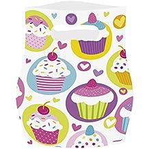 Amscan, Sacchetto regalo, motivo: Cupcake, 6 pz.