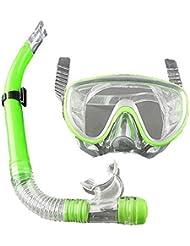 Forfar Nadando Tubo respirador Scuba Pro Anti niebla Gafas Mascarilla Bucear Bajo el agua Sumergible con sistema de snor