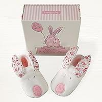 Rufus Rabbit Baby Girl Slippers 0-6 Months