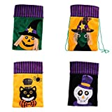 Angmile Halloween Decoration Candy Sugar Bag Halloween Cute Witches Black Cat Pumpkin Skull Candy Bag Packaging Children Festival Party Bag