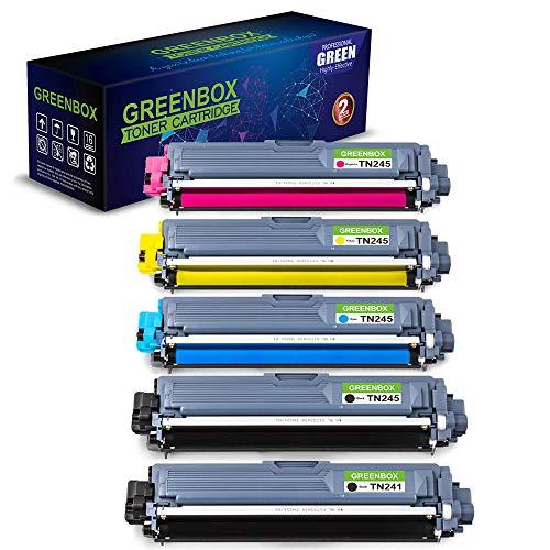 5 Toner Kompatibel zu Brother TN-241 TN245 Kompatibel mit Brother MFC-9332CDW, MFC-9330CDW, MFC-9142CDN, MFC-9140CDN, HL-3170CDW, HL-3140CW, DCP-9022CDW Drucker TN-241BK TN-245C TN-245M TN-245Y -