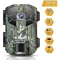 WiMiUS Caméra de Chasse 16MP 1080P HD IP66 Étanche Vision Nocturne 70ft / 20m 940nm LED Infrarouge, 2'' LCD Camera Detecteur de Mouvement Animaux la Surveillance de la Faune la Sécurité à la Maison