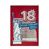 GRUSS & CO 90219 XL handmade Grußkarte, Geburtstag,'18 - Die große Freiheit...