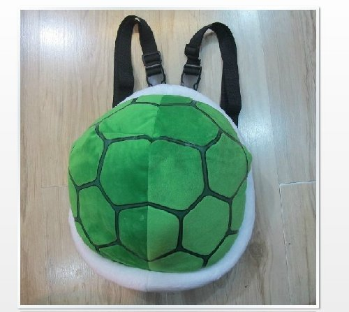 Turtle Ninja Plüsch Kostüm - Super Mario Turtle Schildkröte Plüsch Cartoon Cosplay Rucksack-Schultaschen Umhängetasche Bag