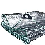 YUN-X Impermeabile Tarp Chiaro Addensare Antipioggia Resistente Tarpauline Foglio Balcone Cortina di Pioggia Protezione Solare PVC Panno di plastica 420G / ㎡ (Dimensioni : 3x4m)