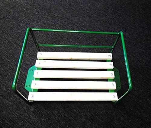 Preisvergleich Produktbild Traktor-Sitz Grün mit Bügel für Beifahrer / Sozius-Sitzbank / Traktorsitz Trecker Kotflügel Schlepper Kinder Bank Beifahrersitz Stuhl Sessel Platz Schlepper