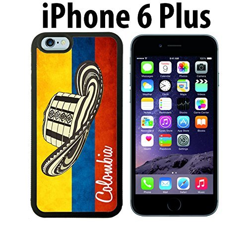 ouucase Colombie Fabriqué Sur Mesure Étui/Housse/Étui Skin pour iPhone 6Plus-Noir-DIY HD Housse PC Pour New Design