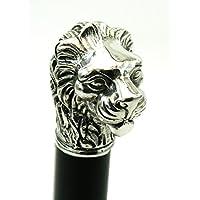 CAVAGNINI Bastoni passeggio legno leone maniglia in peltro canna in elegante colore argento vintage per uomo e per donna per cerimonia Cavagnini made in italy