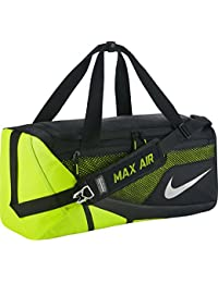 Nike Vapor Max Air Duffel Bolsa de Deporte, Hombre, Negro (Black / Volt / Metallic Silver), S