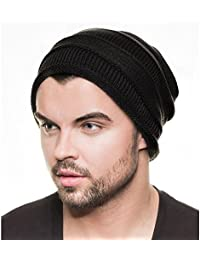 Distressed Multi Layer Ripped Long Beanie Slouch viele Farben