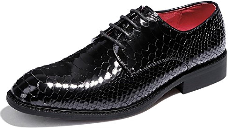 LEDLFIE Zapatos De Cuero De Cuero Genuino De Los Hombres Zapatos De Cuero De Desgaste Formal De Negocios De Los... -