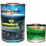 Klarlack - Juego de barniz MS (contenido medio en sólidos) para pintura de coche y pintura con efectos, 1,5 l