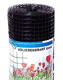 Volierendraht schwarz beschichtet 10x0,9x1000 mm 10 m Maschendrahtzaun