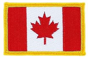 Patch écusson brodé drapeau canada canadien thermocollant insigne backpack
