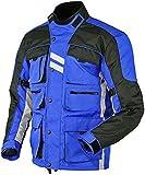 Juicy Trendz Hommes Moto Textile Blouson Imperméable Motard Cordura Veste avec Protecteur Armour