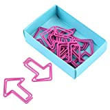 12 Pcs Paper Clips Clip di carta a forma di osso creativo per Art Crafts, Scrapbook Materiale scolastico per ufficio(rose)