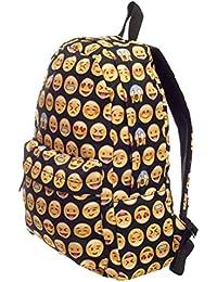 Ecole d'impression Donalworld femmes Smiley Emoji 3D Canvas Backpack