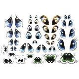 28 pares de ojos de espuma termoformable para muñeca o figura Fofucha