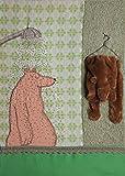 Pappbild Duschbär