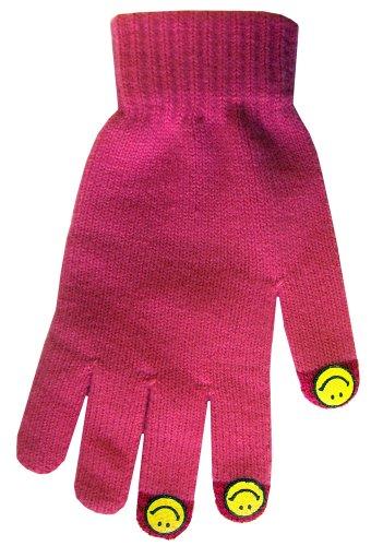 BOSS Tech Produkte Knit Touchscreen Handschuhe mit leitfähigen Fingerspitzen Rose -