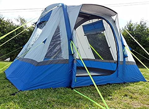 OLPRO Cubo Breeze XL Inflatable Motorhome Awning Waterproof Shelter Blue
