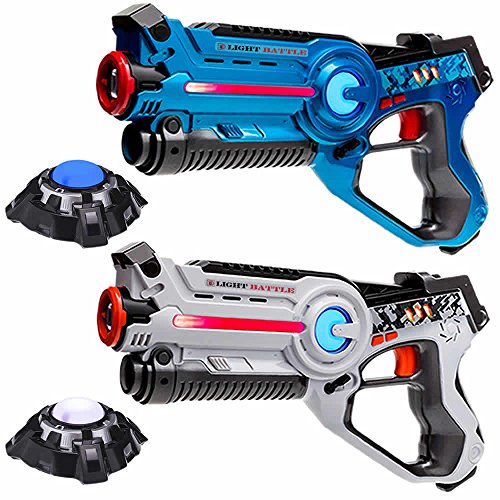 laser-tag-game-for-kids-2-lazer-tag-guns-blue-and-white-and-two-light-battle-active-laser-battle-tar