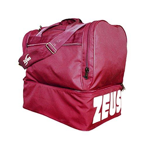 Zeus Herren Sporttasche Fußball Schultergurt Umhängetasche BORSA MAXI 52X52X36 cm (GRENADE) GRENADE