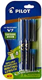 #7: Pilot V7 Hi-tecpoint Roller ball pen with Cartridge System - 2 Blue Pens, 4 cartridges