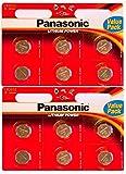 Panasonic, batteria CR 2032 a celle di litio, da 3 V, confezione da 12 batterie