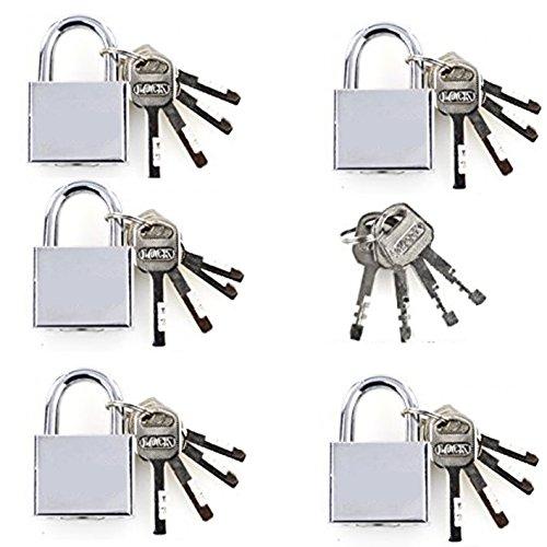 Bada Bing 5er Set Vorhängeschloss Sicherheitsschloss 50 mm mit Schlüssel inkl. Generalschlüssel