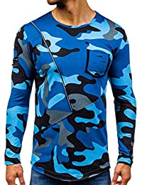 BOLF – Sweat-shirt – Pull de sport – Manches longues – Sweat – Motif Camo – Homme [1A1]