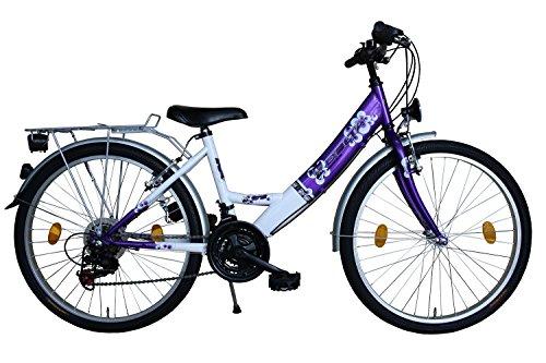 Delta Harmonia 26 Zoll Fahrrad 18 Gang Shimano Kettenschaltung StVZO Lila mit ALUFELGEN - Delta-mutter