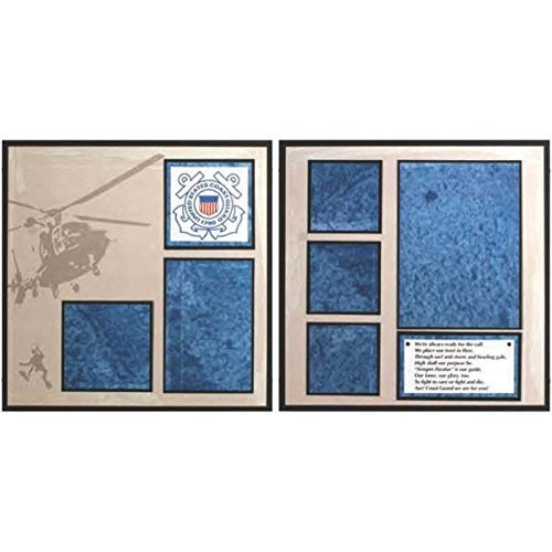 Uniformed Scrapbooks of America US Coast Guard Layout-Kit für 2 Seiten -