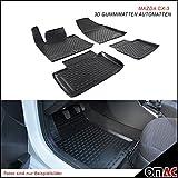 Omac GmbH Allwetter Auto Hohe 3D Gummimatten Fußmatten für CX-3 2015-2019 Schwarz 4 Teilig