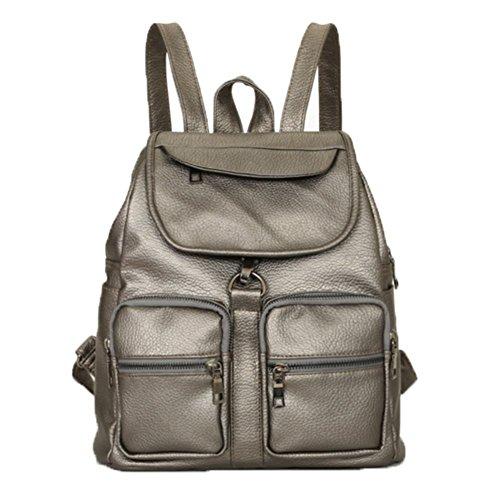 Ohmais Rücksack Rucksäcke Rucksack Backpack Daypack Schulranzen Schulrucksack Wanderrucksack Schultasche Rucksack für Schülerin gris