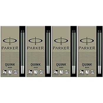 6 Unwashable Mini Purple Ink Cartridges in Carton Box Parker Quink S0767250