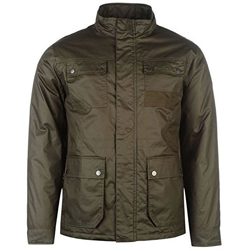 Pierre Cardin cerato giacca da uomo cachi giacche Coats Outerwear, Khaki, L